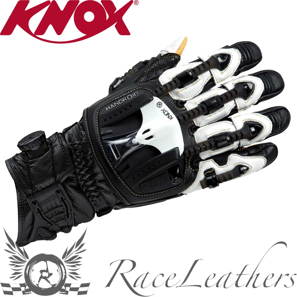 Motorcycle gloves exoskeleton - Knox Handroid Pod Black Hand Armour Exoskeleton Kangaroo Palm Motorcycle Gloves