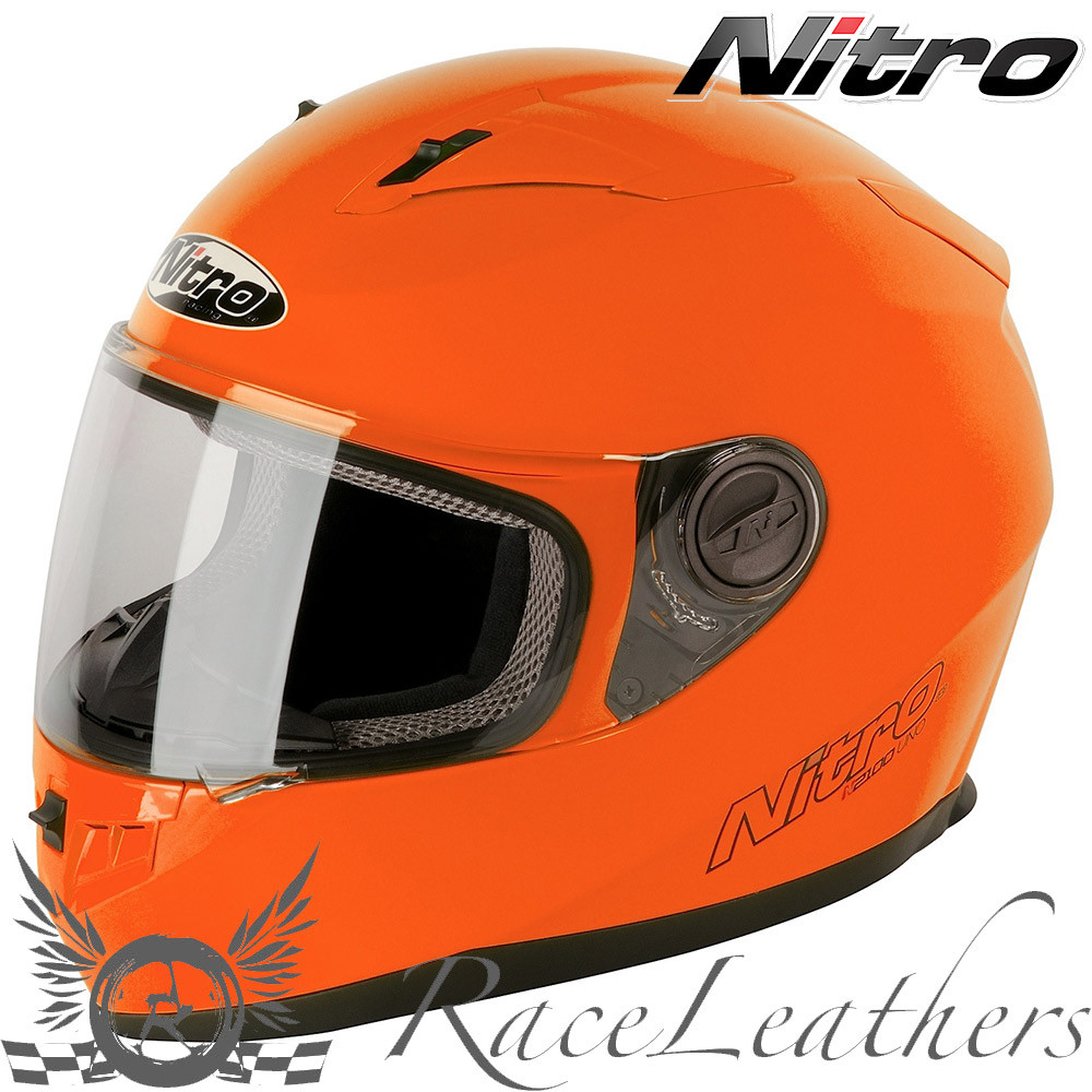 nitro n2100 uno bright orange full face motorcycle. Black Bedroom Furniture Sets. Home Design Ideas