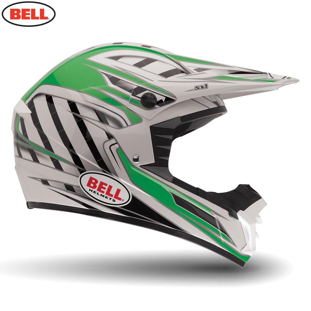 BELL MX MOTORCYCLE MOTOCROSS ENDURO OFF ROAD HELMET SX-1 SWITCH GREEN ...