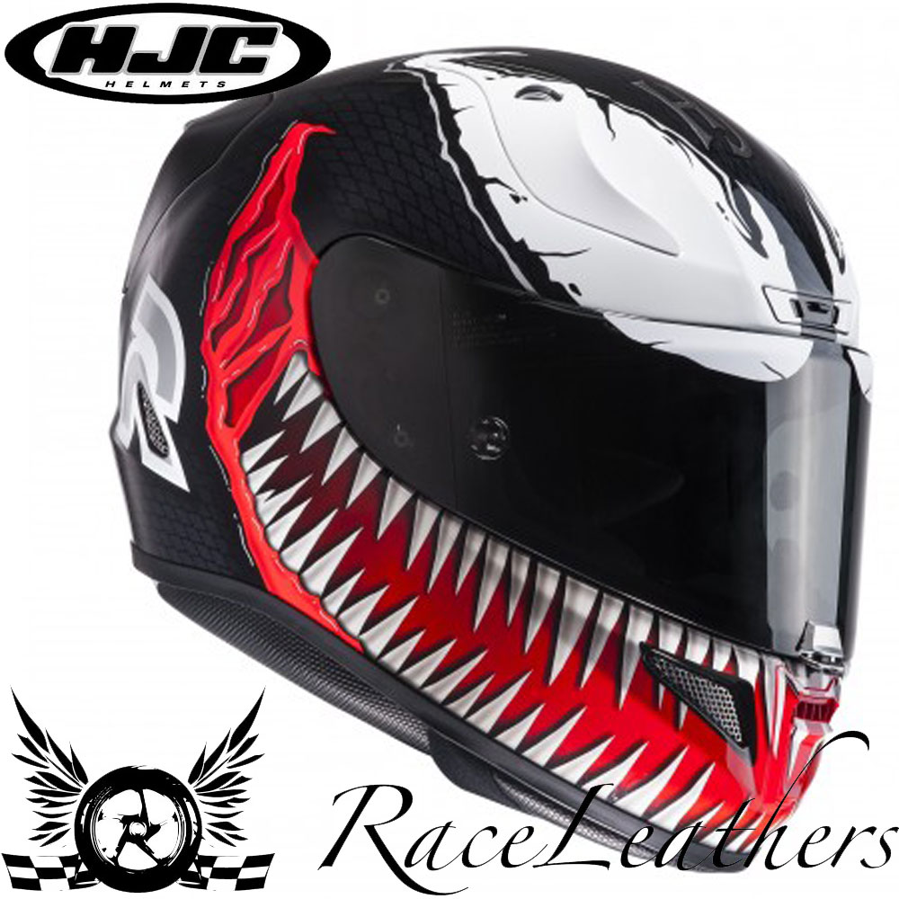 hjc rpha 11 venom spiderman marvel graphic design motorcycle motorbike helmet ebay. Black Bedroom Furniture Sets. Home Design Ideas