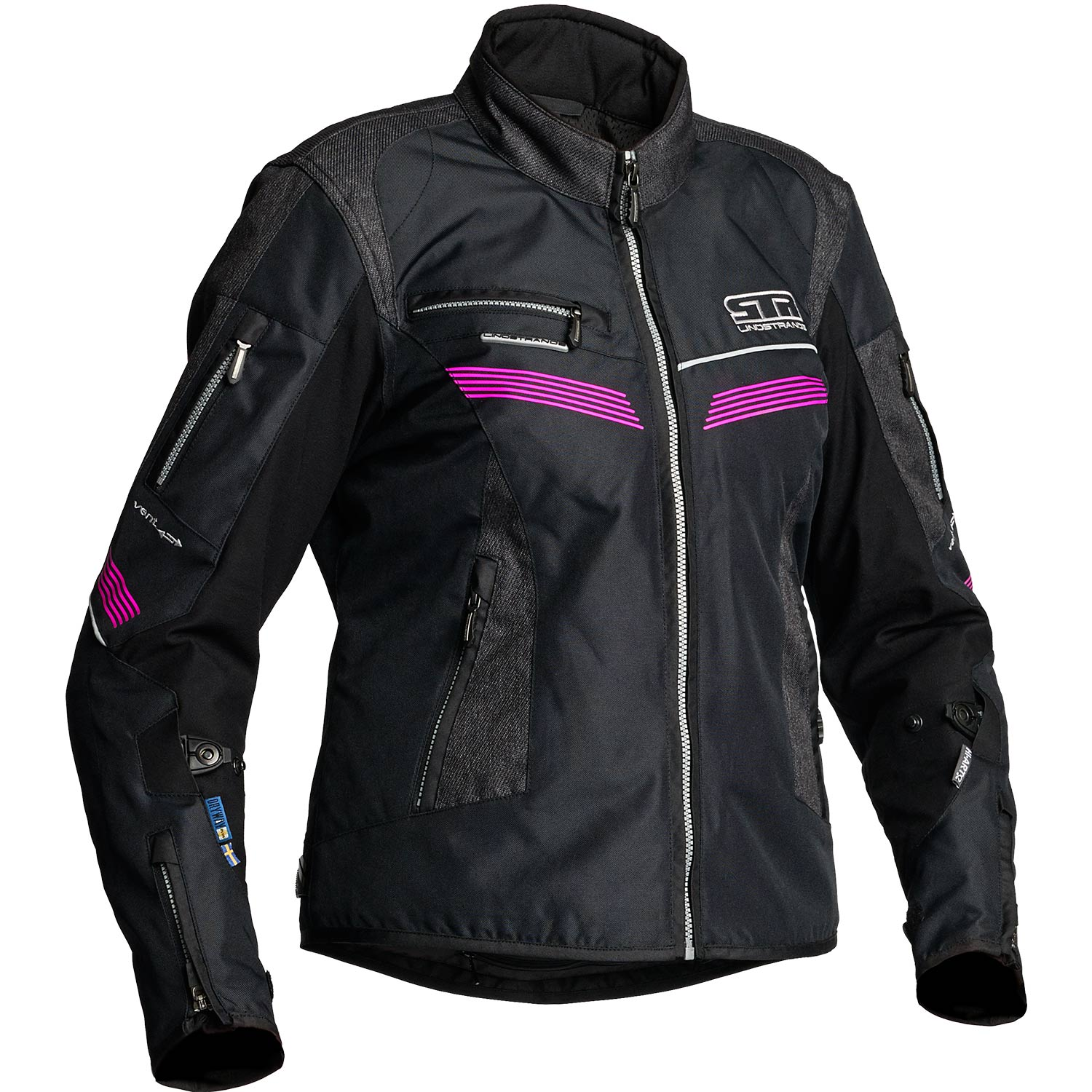Moto Ce Lindstrands Mujer Chaqueta Negro Zhiva Impermeable Aa AqX0A