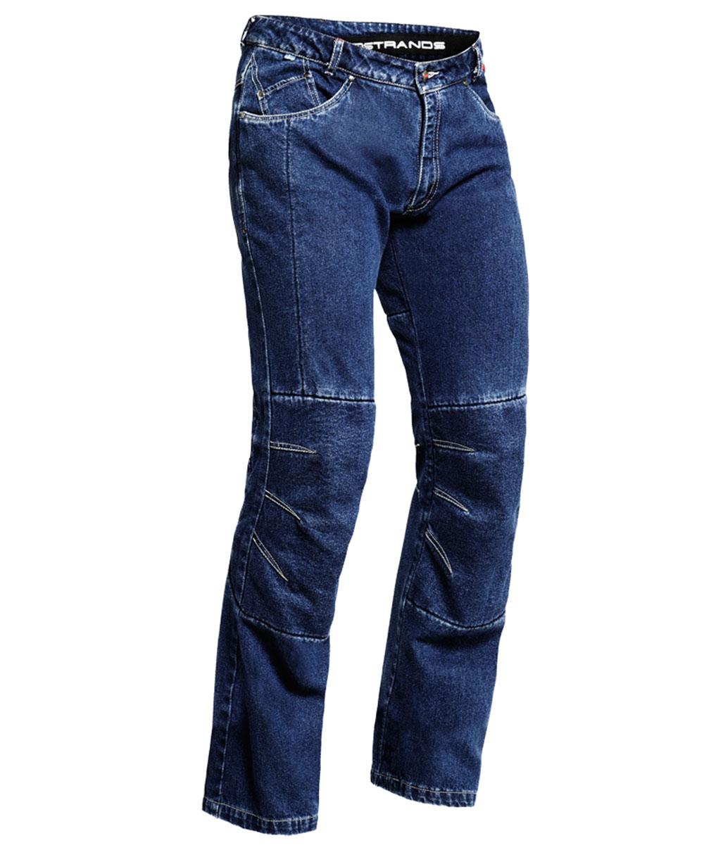 Lindstrands housse bleu moto pantalon jeans jambe courte for Housse a costume