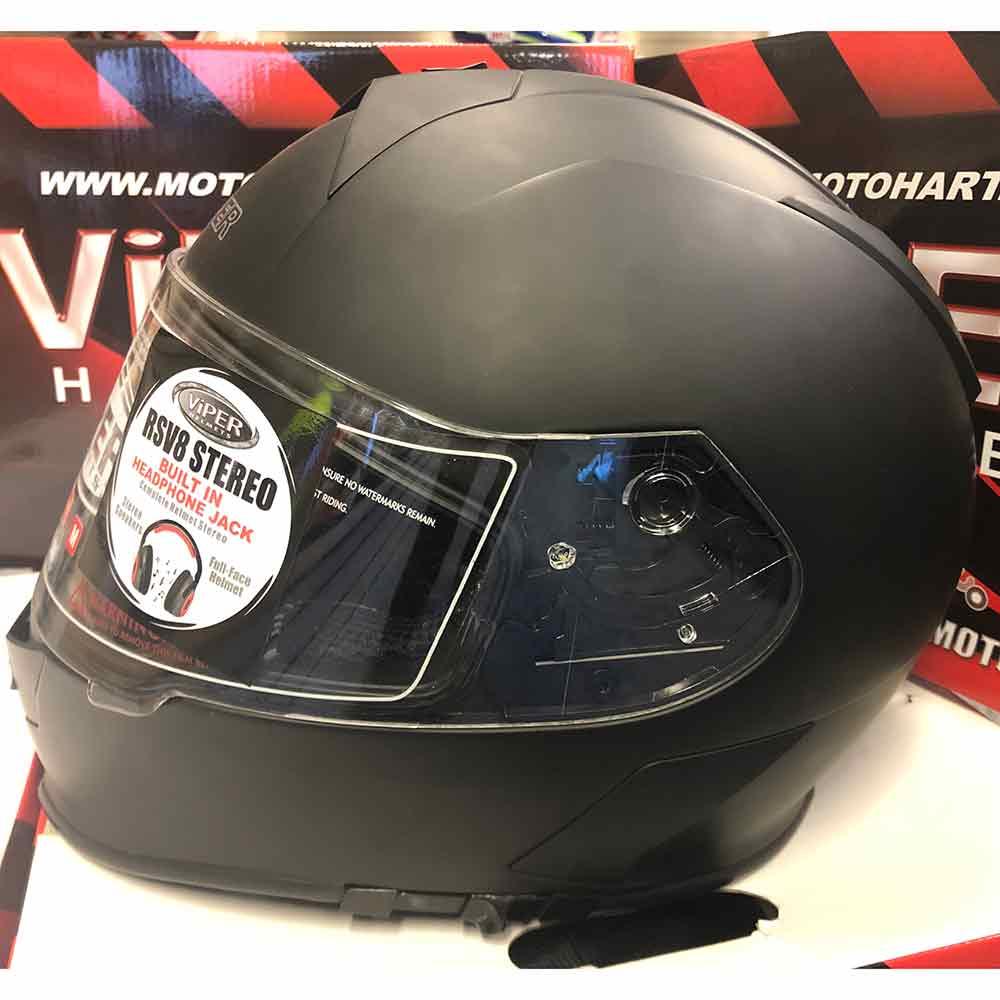 VIPER RS-V131 BLUETOOTH FLIP ACU MOTORCYCLE HELMET MATT BLACK FREE COMFY PACK