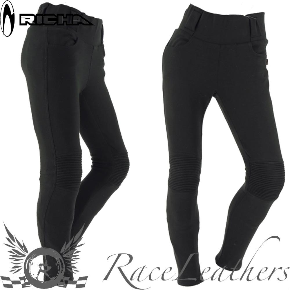 Détails sur Richa Kodi Noir Résistant à L'Abrasion Femmes Moto Leggings