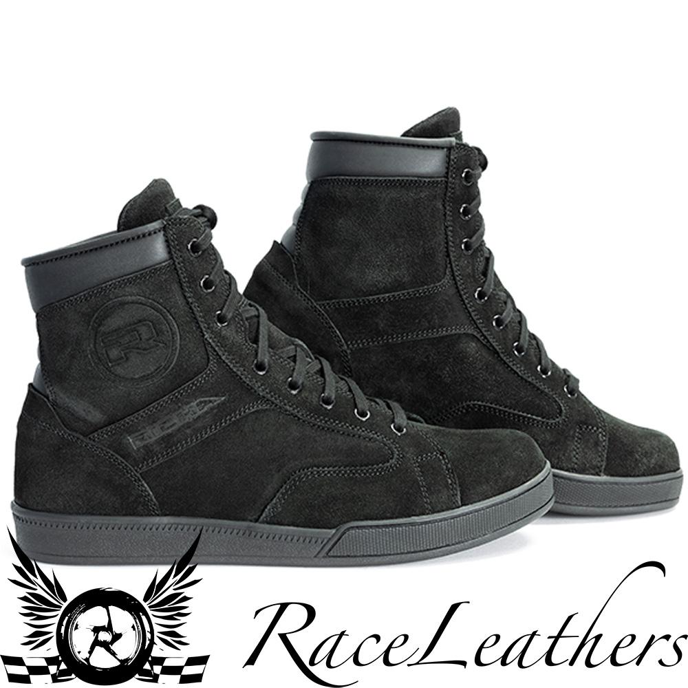 Richa Pantalones Cuero Moto Para Mujer Freedom Short Negro Eu 44 // Us 12, Negro