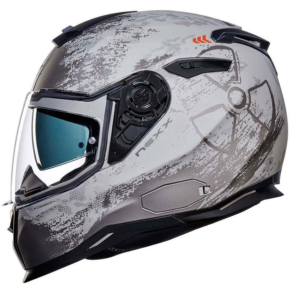 NEXX-SX-100-Toxico-MATE-hormigon-Motocicleta-Moto-Casco-Visera