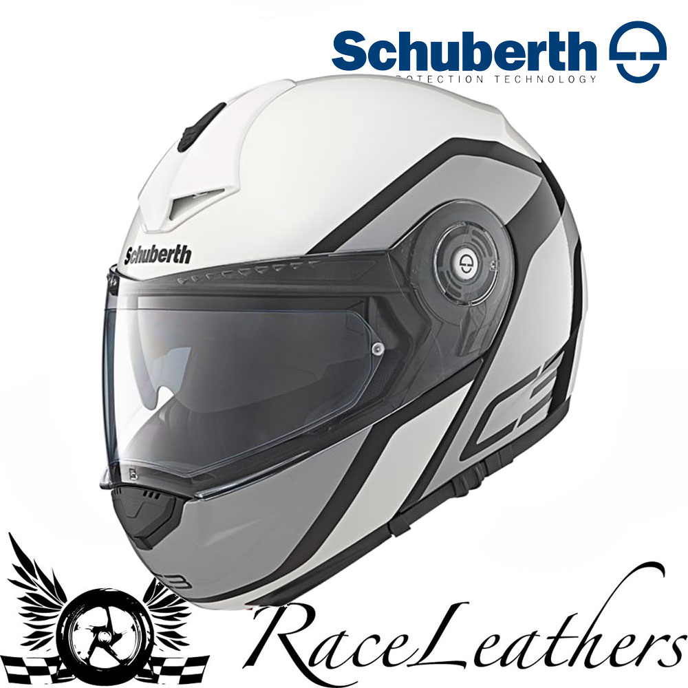 a2a8b1ec SCHUBERTH C3 PRO OBSERVER BLACK WHITE MOTORCYCLE MOTORBIKE FLIP FRONT HELMET