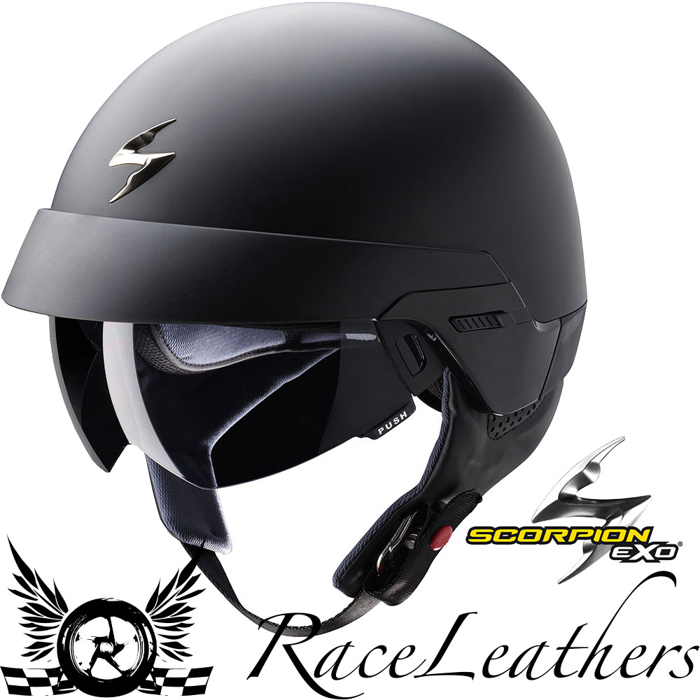 scorpion exo 100 matt black open face motorcycle scooter. Black Bedroom Furniture Sets. Home Design Ideas